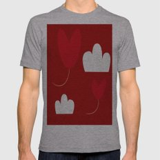 Valentine Red  Mens Fitted Tee Athletic Grey SMALL
