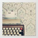 Type and Coffee Canvas Print