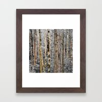 Camo In The Woods Framed Art Print