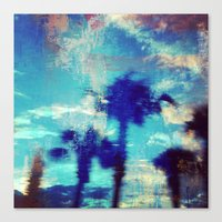 Underwater Palms Canvas Print