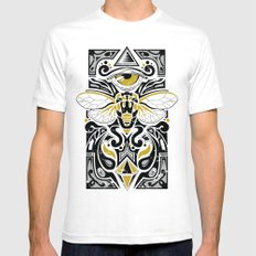 Cicada SMALL White Mens Fitted Tee