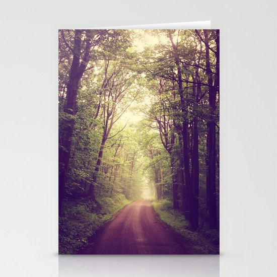 The Sound of Fog Coming Down Stationery Card
