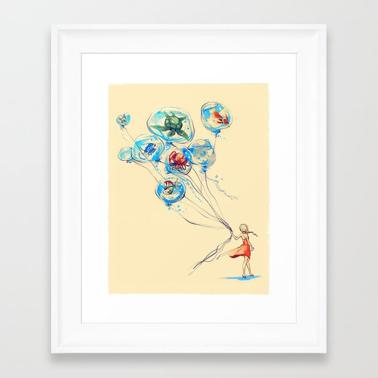 Water Balloons Framed Art Print