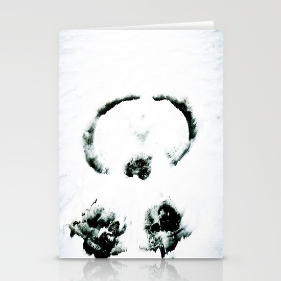 Snow Angel Stationery Card