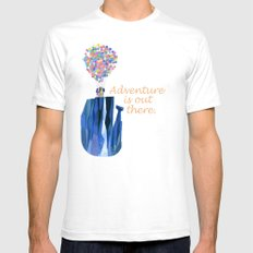 Adventure is out there .. version two Mens Fitted Tee White SMALL