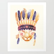 Big Chief Art Print