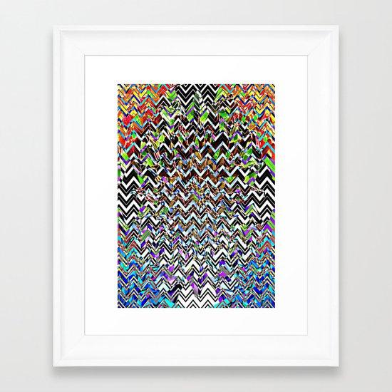 CHEVROMELT Framed Art Print