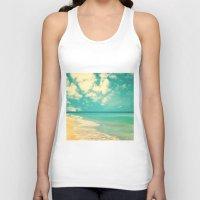 Retro Beach And Turquois… Unisex Tank Top