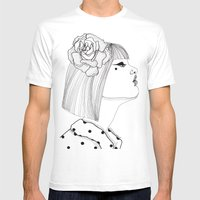 A Rose Mens Fitted Tee White SMALL