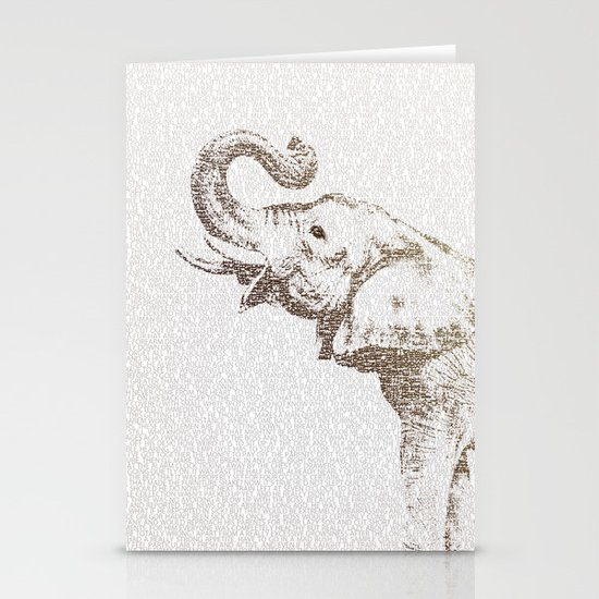 The Wisest Elephant Stationery Card