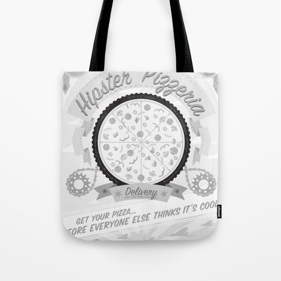 Hipster Pizzeria Tote Bag