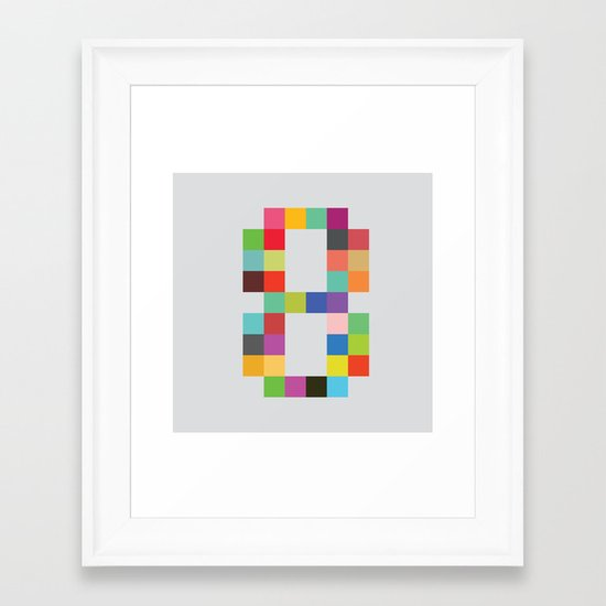 Eight Bit Framed Art Print