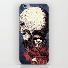 Posing on the moon iPhone & iPod Skin