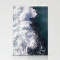 sea - midnight blue wave Stationery Cards
