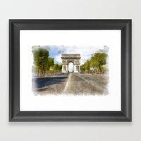 Paris - Arc De Triomphe Framed Art Print