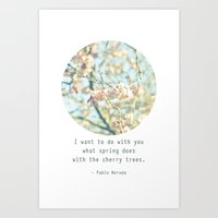 What the spring does to cherry trees Art Print