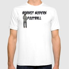 AGAINST MODERN FOOTBALL Mens Fitted Tee White SMALL