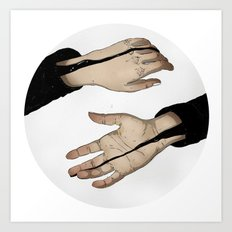 Hands In The Dark Art Print