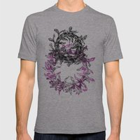 Flowers Circle Mens Fitted Tee Athletic Grey SMALL