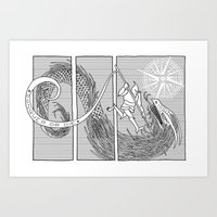 Slaying The Dragon Art Print