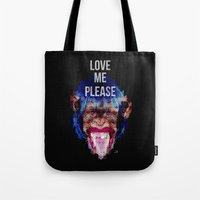 Monkey need love Tote Bag
