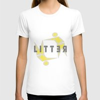 LITTER LOGO Womens Fitted Tee White SMALL