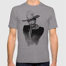 Zombie Wayne. Mens Fitted Tee Athletic Grey SMALL