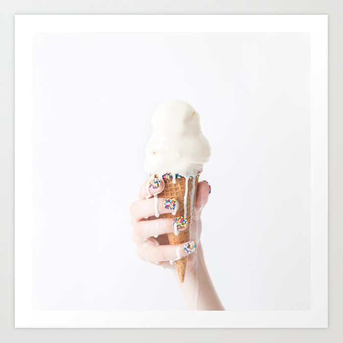 ice cream art print photography