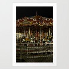 The Rides, The Carousel Art Print