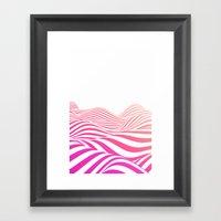 Pink wave Framed Art Print