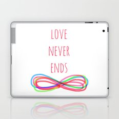 Love Never Ends Laptop & iPad Skin