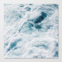 sea - midnight blue storm Canvas Print