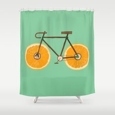 Orange bike Shower Curtain