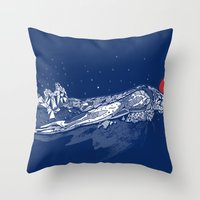 Olympic Swimmer  Throw Pillow