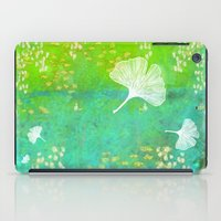 Green Ginkgo Tile iPad Case