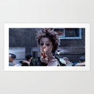 Art Print featuring Marla Singer (smoke Brea… by Lensebender