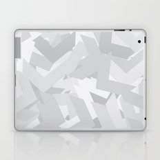 White Chevron Laptop & iPad Skin