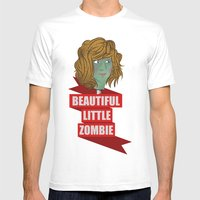 Beautiful Little Zombie Mens Fitted Tee White SMALL