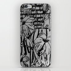 Black and White Palm Flowers by my Mom iPhone & iPod Skin