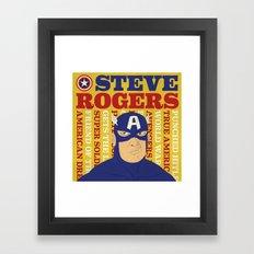 Steve Rogers/Captain America Framed Art Print