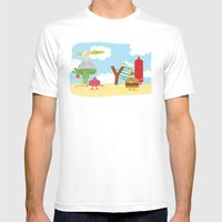 Vegetables Vs. Fast Food Mens Fitted Tee White SMALL