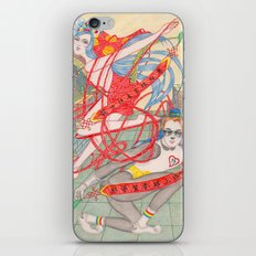 The Legendary Panda Brother & Dragon Sister  / Original A4 Illustration / Colored Pencil & Ink iPhone & iPod Skin