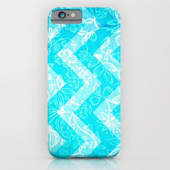 Turquoise Flowers iPhone & iPod Case