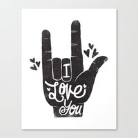 LOVING HAND Canvas Print
