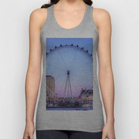 The London Eye, London Unisex Tank Top