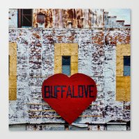 Buffalove Color Canvas Print