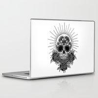 sugar skull Laptop & iPad Skins featuring Sugar Skull by Nora Bisi