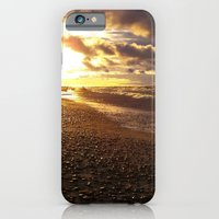 iPhone & iPod Case featuring Stormy  Superior Sunset by Heather Newkirk Photography