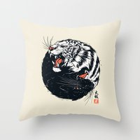 Taichi Tiger Throw Pillow