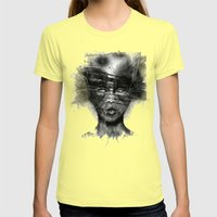 CAT Womens Fitted Tee Lemon SMALL